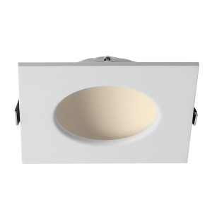 Downlight empotrable fijo cuadrado serie ELBA